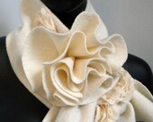 Ivory Rosette Scarf