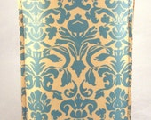 Vintage Damask Pattern. Leather iPhone Case,  Hand Made .