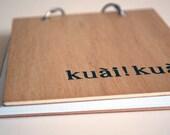 kuai kuai (faster faster) notebook chinese hand stamped