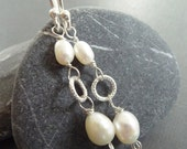 First Snowfall Pearl and Sterling Silver Earrings