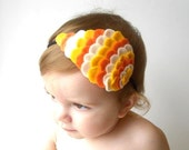 Woodland Owl Wing Headband - Candy Corn - Made to order