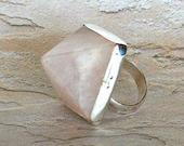 Pink Pyramid Ring