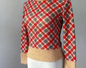 Vintage 1960s argyle print sweater