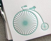 FLAT NOTES Letterpress - Vintage Bike (NVB04S10)