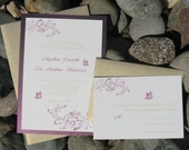 Antique Butterfly Wedding Invitation Suite