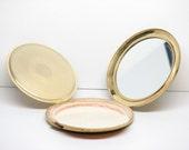 Vintage Gold Makeup Face Powder Compact