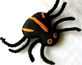 Spencer The Spooky Spider Organic Catnip Bell Cat Toy