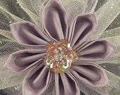 Lavender Kanzashi Beaded Flower Hair Accessory by Lady Lygeia on Etsy