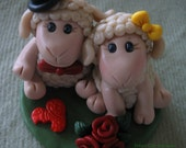 Sheep Wedding Cake Topper