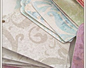 Ten Vintage Wall Paper Tags