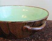 Green Aqua and Rustic Chocolate Casserole