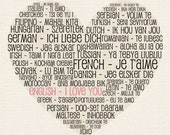 I love you - choose your language