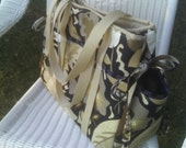 OOAK - This Canvas Overnight / Travel / Diaper Bag  is READY TO SHIP