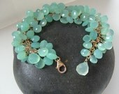 Gold and Chalcedony Briolette Bracelet