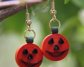 Jack o' Lantern Quilled Earrings