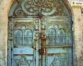 Original photograph - Green rusty door  in Neveh Tzedek, Tel Aviv