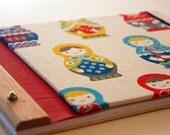 journal handmade eco friendly // pretty babushkas all in a row
