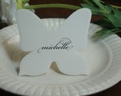 100 Embossed Flat Butterfly Escort Cards / Place Cards