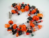Halloween Treat - Lampwork Charm Bracelet