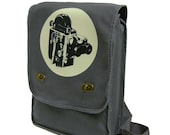 vintage movie camera film geek (gray) MESSENGER / LAPTOP BAG