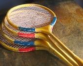 Vintage Badminton Rackets .. Set of 4