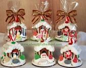 Handmade Mini Gingerbread House Ornaments - 3pc