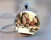 Mad Hatters Tea Party Art Pendant BUY 2 GET 1 FREE C107-20M