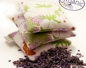 Organic Lavender Sachet - natural USA grown Organic Cotton - herbolution