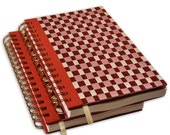 Handmade Daily Planner Organizer on Etsy, Woven with Ribbons - 6 X 8.5, set of 2 Books