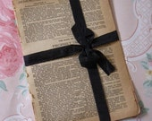 Vintage Paper Parcel - Browned Antique Pages from an 1880s Bible