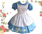 Modest Alice in Wonderland Halloween Costume Dress and Apron medium