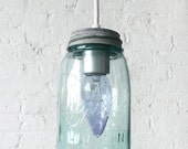 Vintage Mason Jar Pendant Light