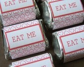 Alice in Wonderland (Eat me) -Printable- chocolate favor wrappers