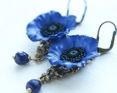 Prohibition Earrings no.3 - midnight, cobalt blue- a great gift
