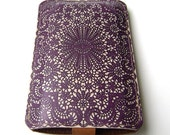 Leather Purple Lace  All iPhone's , iTouch case