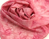 Carnation Silk Scarf Hand Painted by Palettepassion