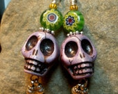 All Decked Out - Day Of the Dead Earrings VIII