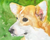 Corgi Dog Signed Art Print by Ron Krajewski