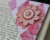 Pink Flower Origami Bookmark