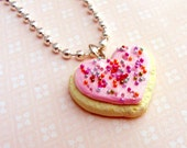 Mini  Iced Sugar Cookie Necklace