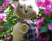 Happy Cat, The Primitive Folk Art Kitty Doll