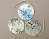 Botanical Ceramic Gift Tags - Set of 3