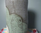 handmade hummingbird vase/ kitchen utensil holder