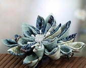 Cloud Crane - Kanzashi  Flower Barrette Hair Clip
