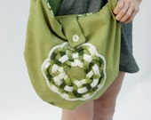 Eco Friendly Handmade Bag Slouchy Hobo Irish Charm