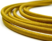 ON SALE 25 percent OFF Silk necklace  YELLOW MUSTARD multi stranded