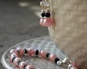 ON SALE Bridesmaids Gift - Bracelet and Earrings - Customize your favorite colors on your special day