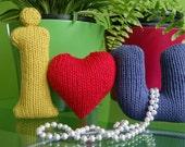 I HEART U / I LOVE YOU Knitting PATTERN