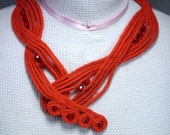 Red Asymmetrical Dinara Statement Necklace
