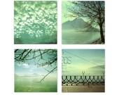 SALE  Set of 4 Textured 5x5 fine art photography original prints